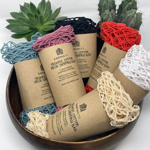 organic cotton mesh shopping bags