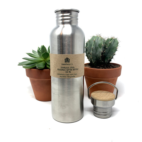 plastic free reusable water bottle
