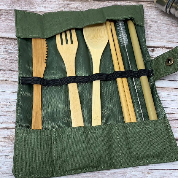 bamboo travelling cutlery