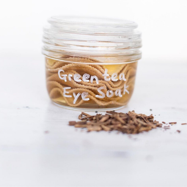 green tea eye soak