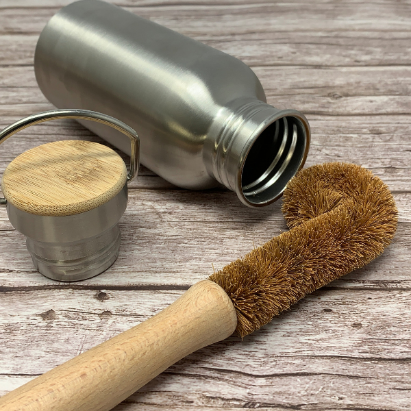 eco friendly bottle coconut brush