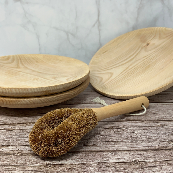 coconut fibre eco friendly dish brush
