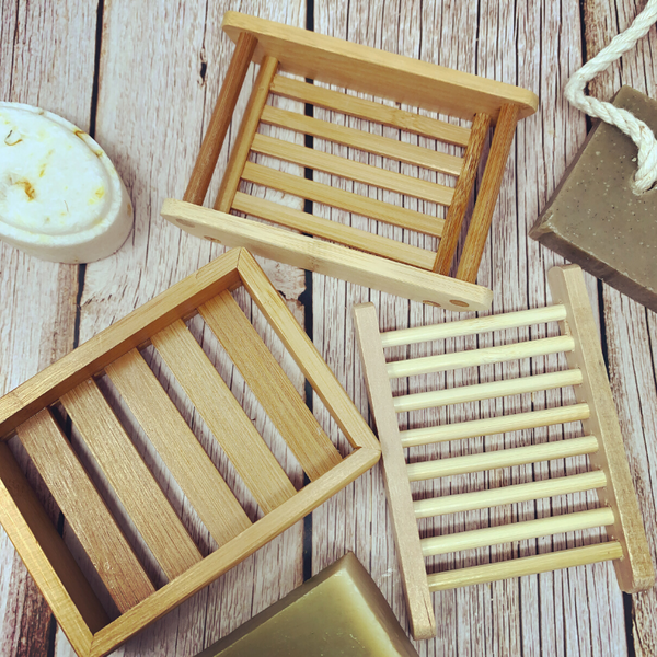 Eco friendly bamboo soap dish