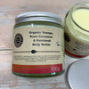 vegan body cream with shea butter, patchouli in plastic free packaging