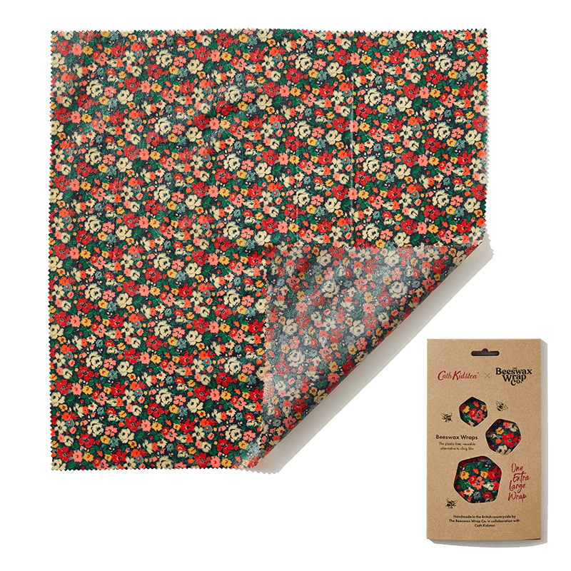 beeswax food wrap floral