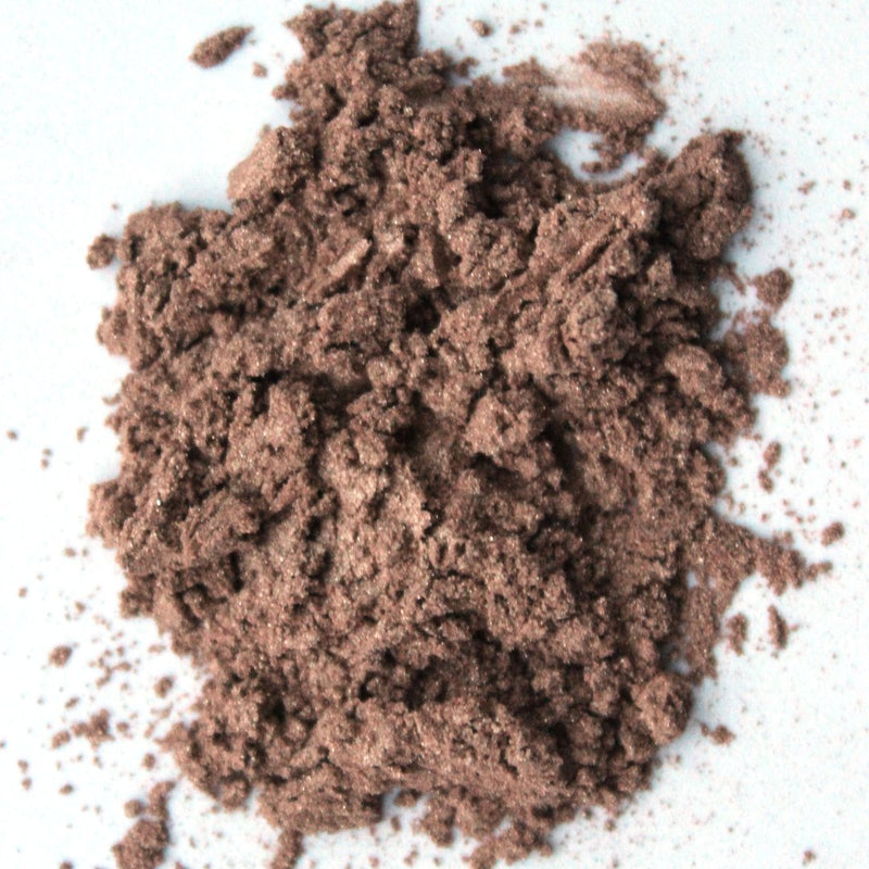 vegan sand eyeshadow by love the planet, loose and unpackaged on white background