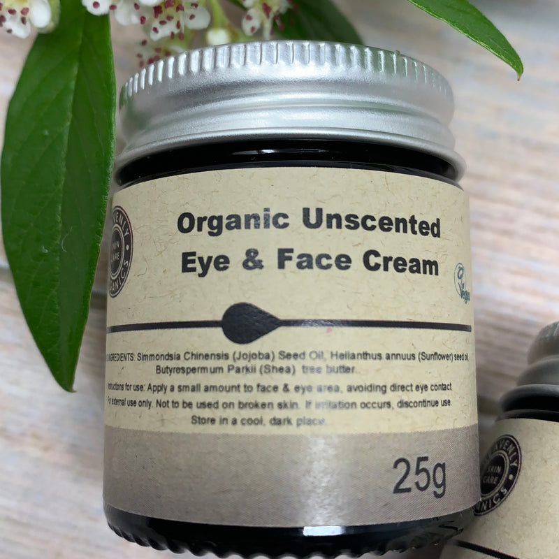 unscented eye and face skin care product