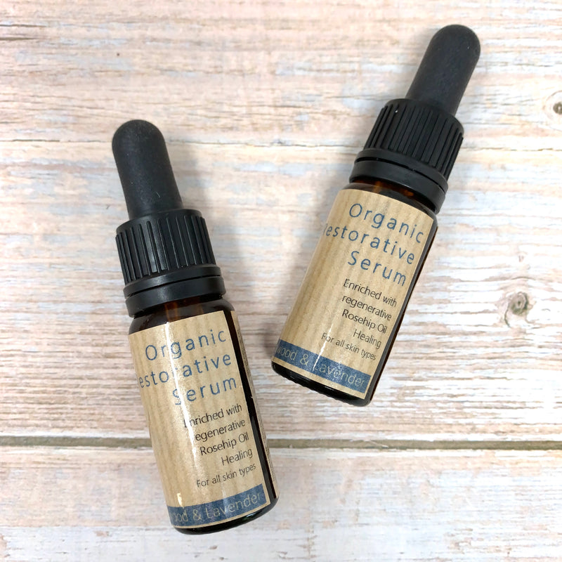 10ml bottles of face oil with rosehip oil for all skin types