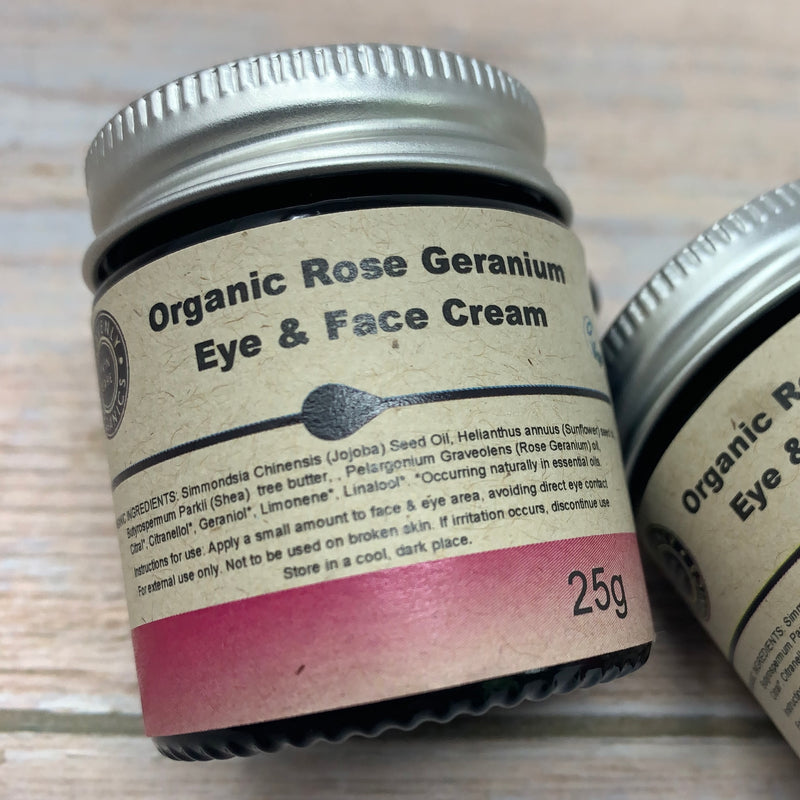 rose geranium organic face and eye cream