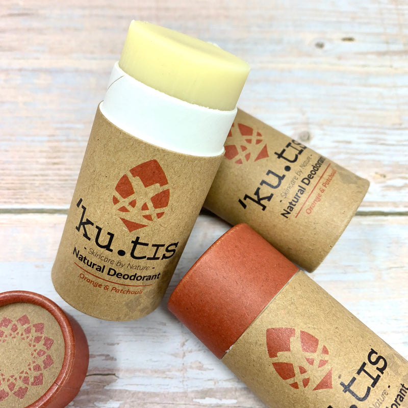 deodorant stick in ecofriendly packaging by kutis