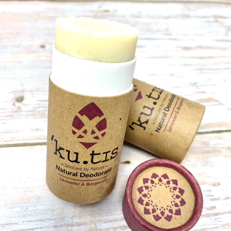 ecofriendly deodorant stick from kutis, lavender and bergamot