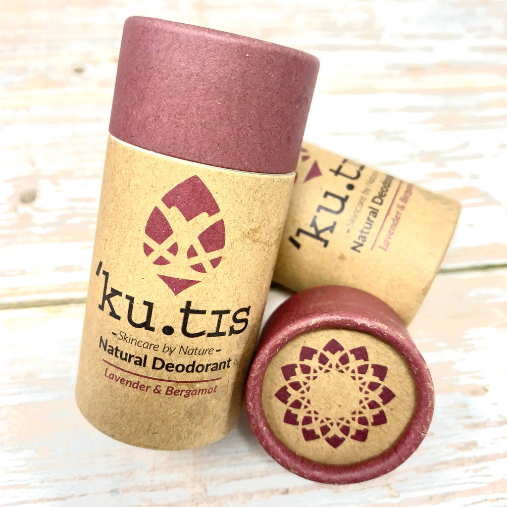 kutis vegan deodorant lavender and bergamot with paper tube