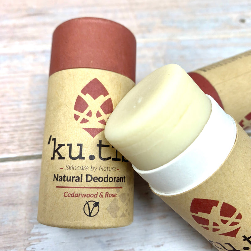 push up deodorant stick without any plastic, made with cardboard and recyclable paper