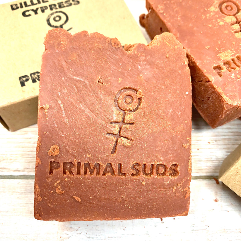 billie clay cypress soap by primal suds
