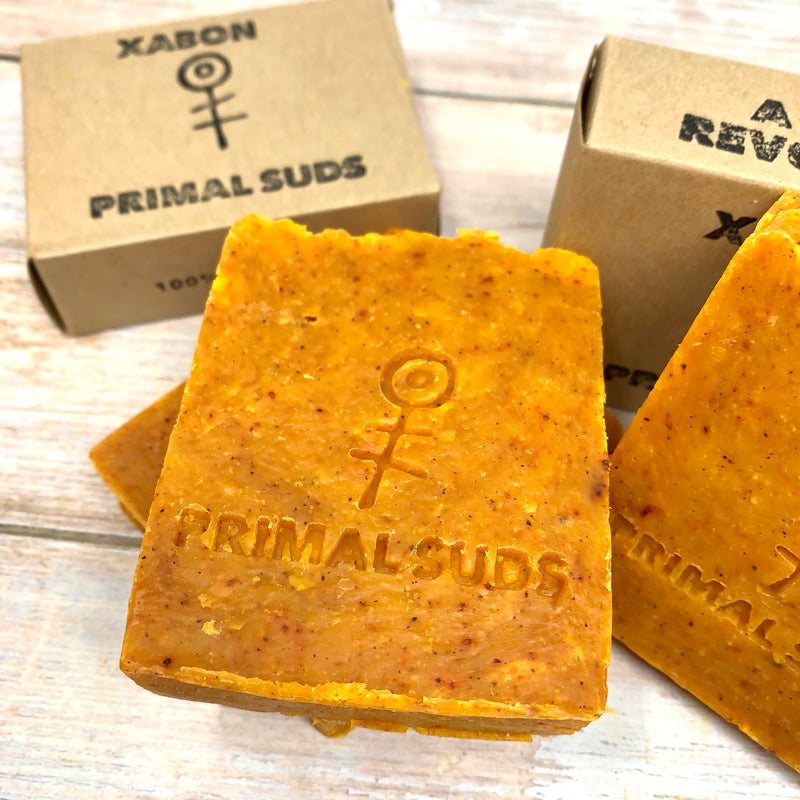 primal suds xabon soap with plastic free packaging