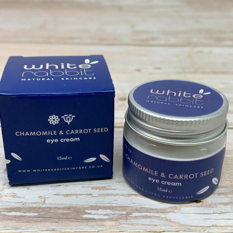 chamomile and carrot seed eye cream by white rabbit