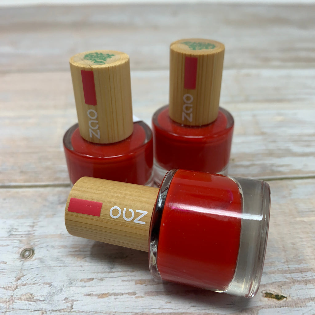 classic red vegan nail varnish by zao
