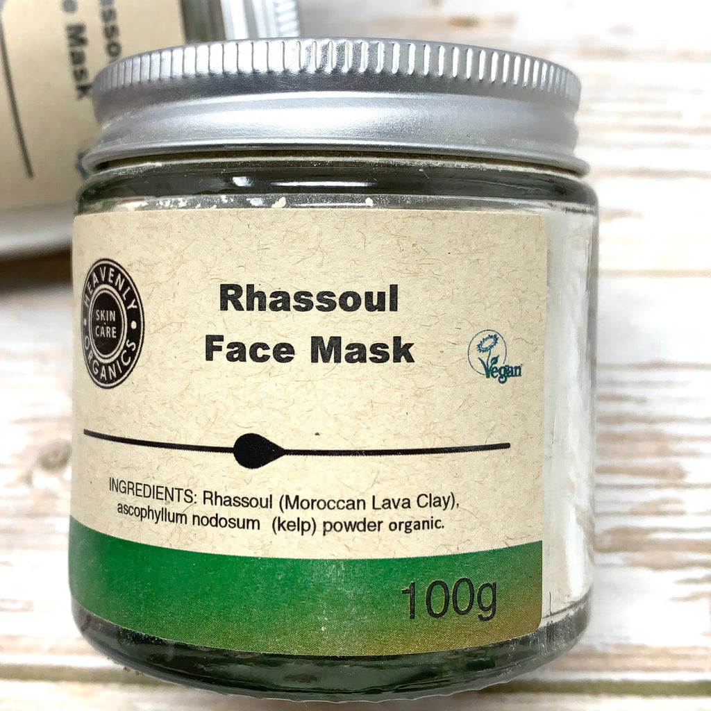 Rhassoul Face Mask, Face Mask for Sensitive Skin, Detoxing Face Mask