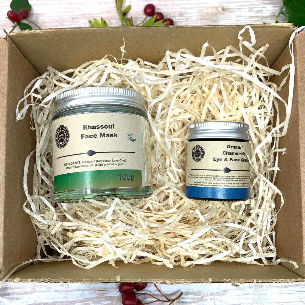 gentle natural rhassoul face mask and chamomile