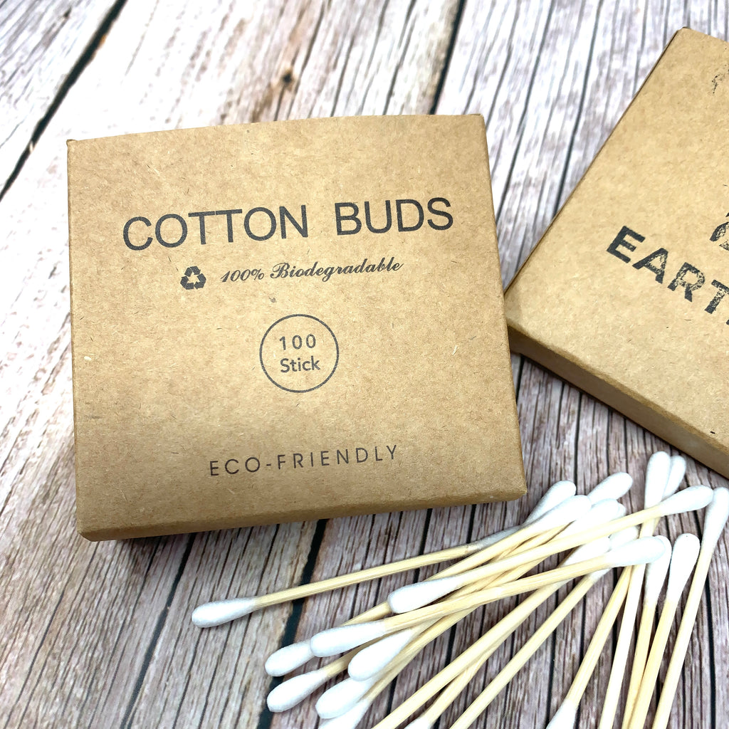 plasticfree ear buds made with bamboo and cotton set of 100