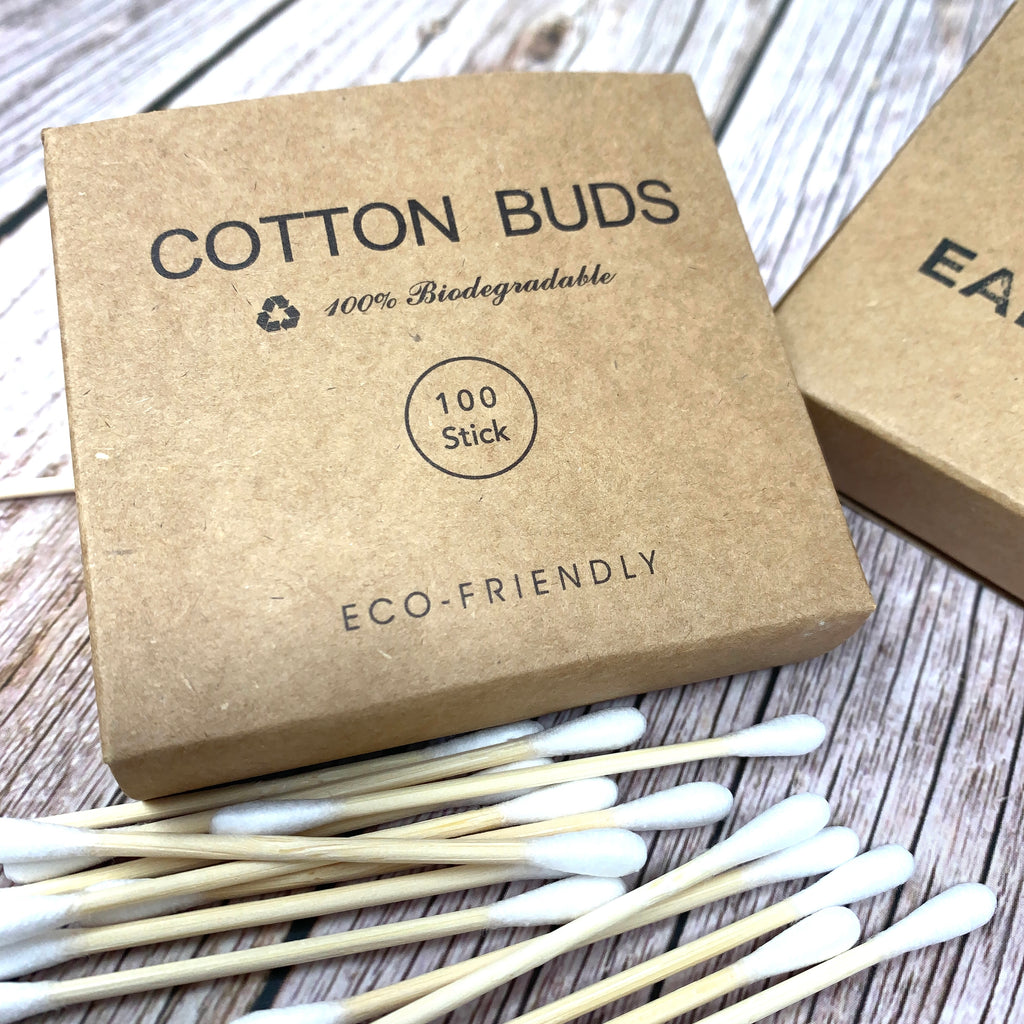 ecofriendly bamboo and cotton biodegradable cotton buds