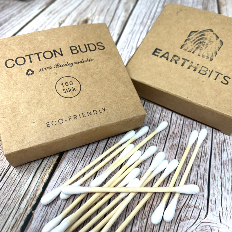 plastic free bamboo cotton ear buds