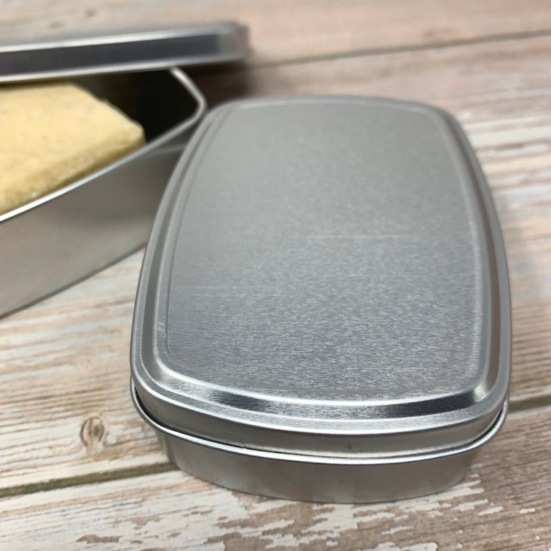 soap metal travel tin