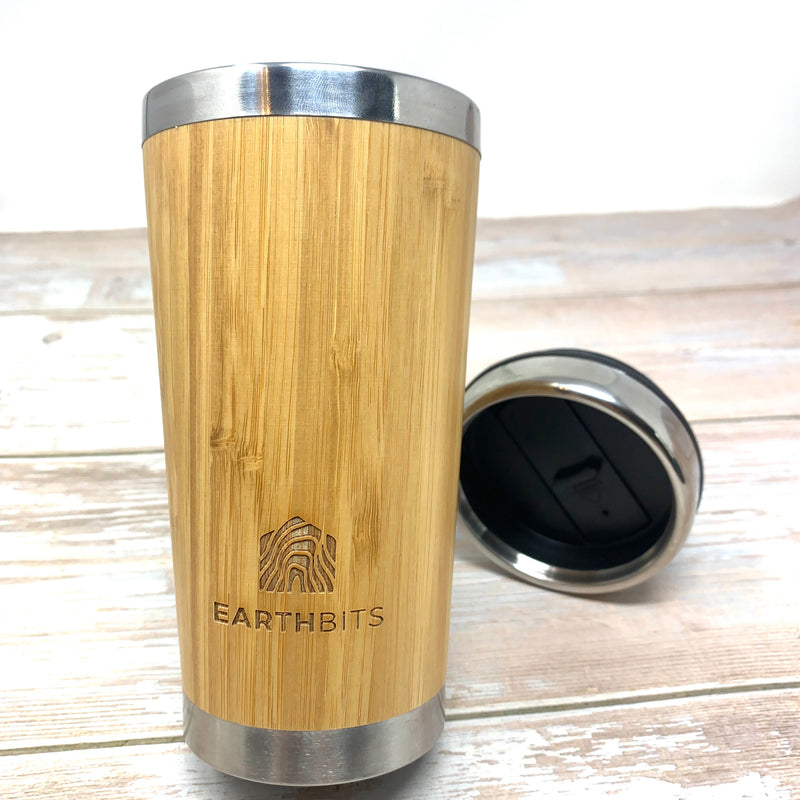 best metal reusable coffee cup with lid and bamboo