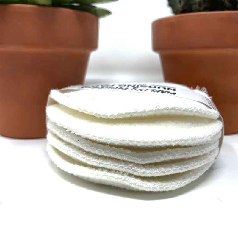 white nursing pad set