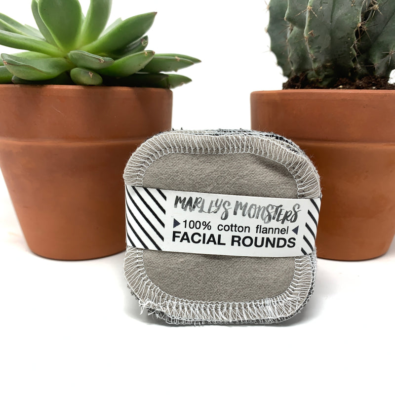make up removal pads grey