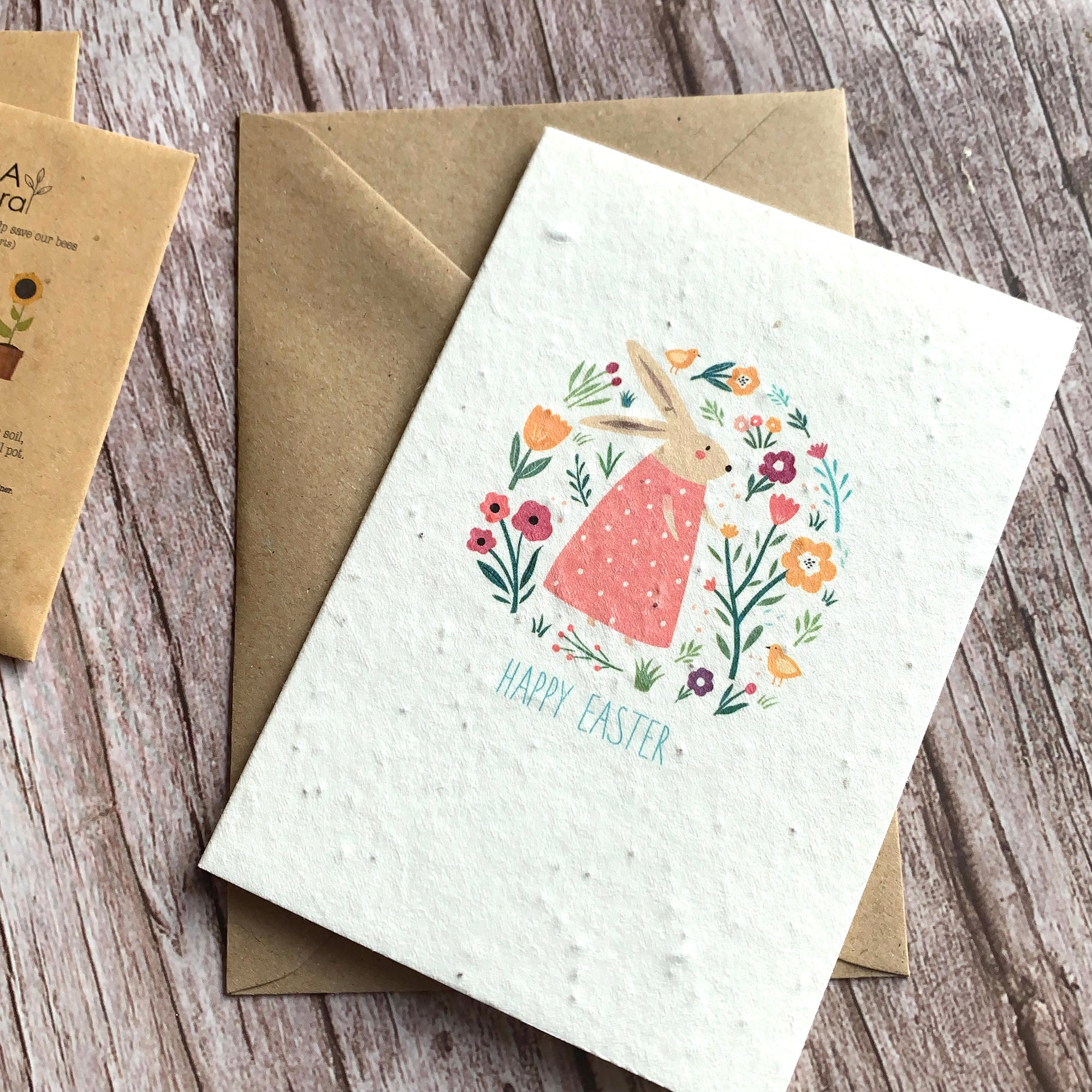 easter cards made with ecofriendly paper that is recycled and with flower seeds