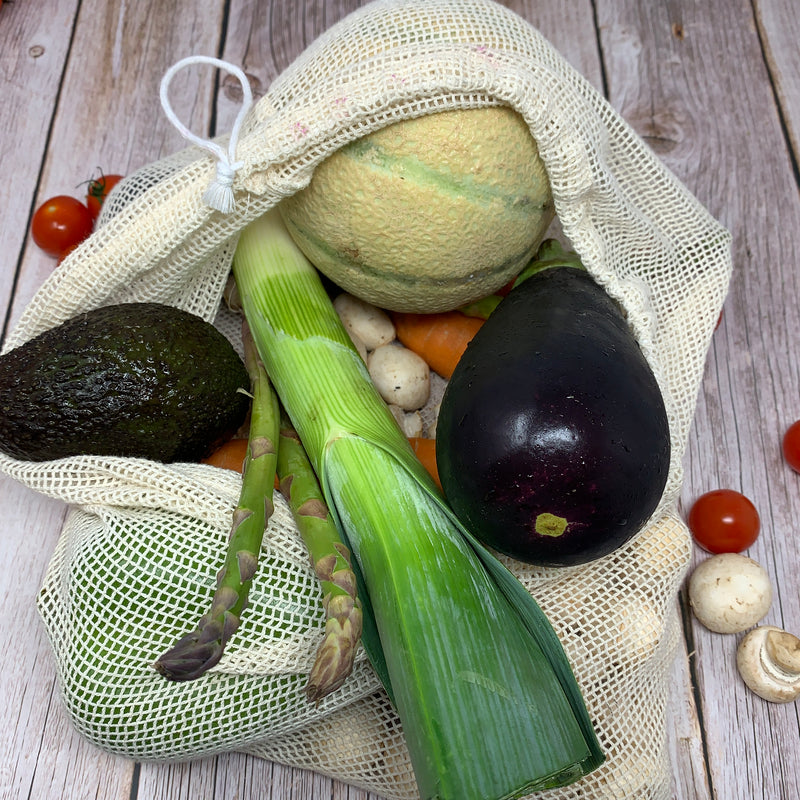 mesh bag with drawstring for vegetables