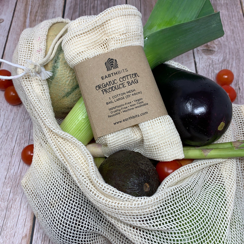 large cotton natural produce bag