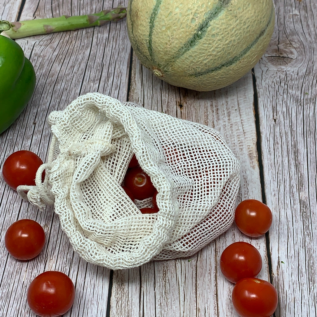 small mesh cotton bag for fruit veggie