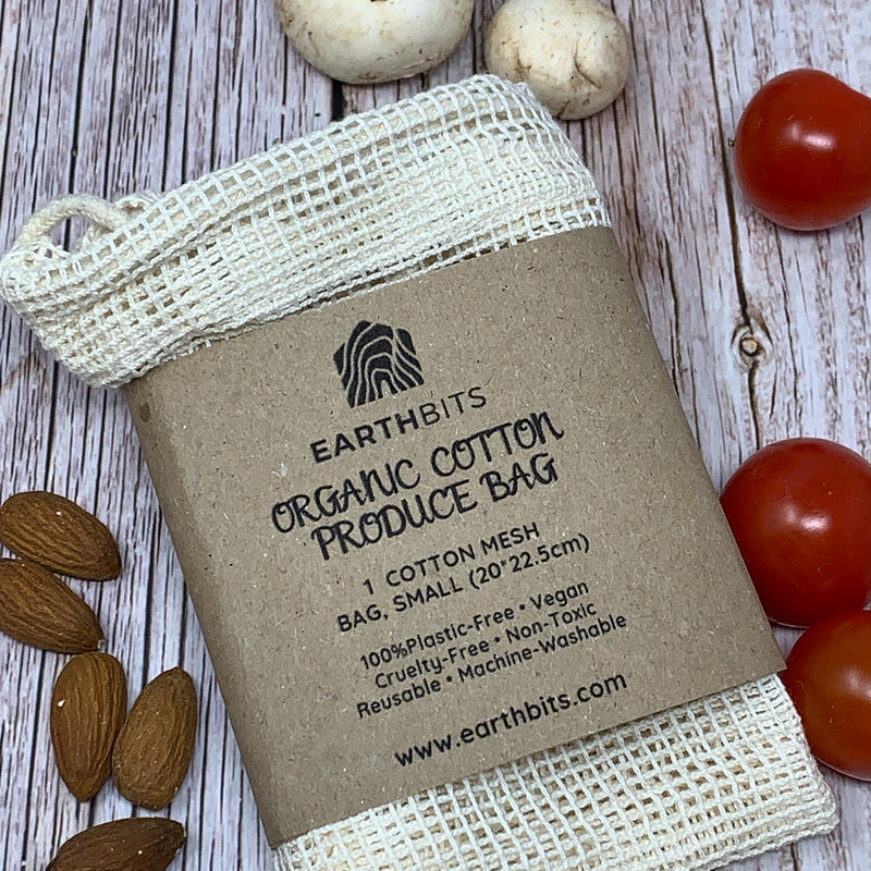 organic cotton produce bag small
