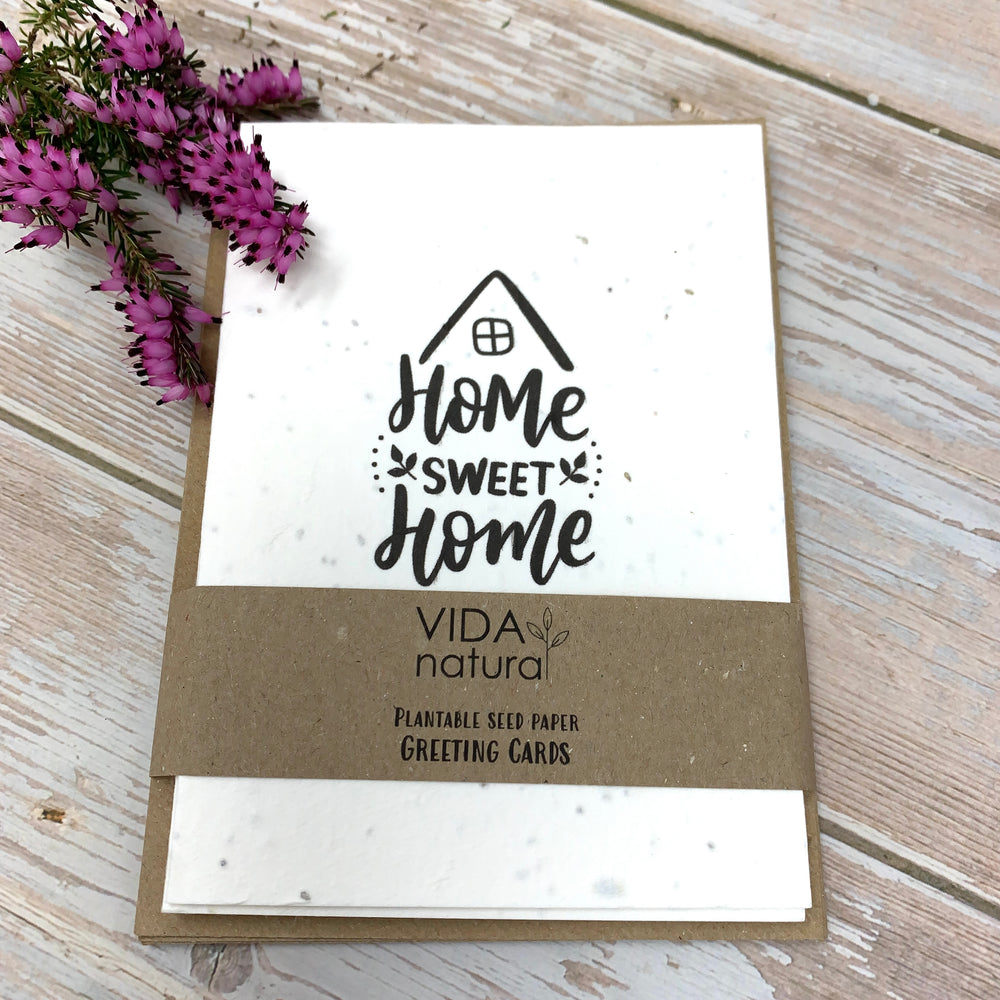 home sweet home greeting cards with brown envelopes