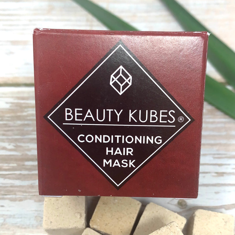 beauty cubes conditioning hair mask in brown cardboard box without any plastic