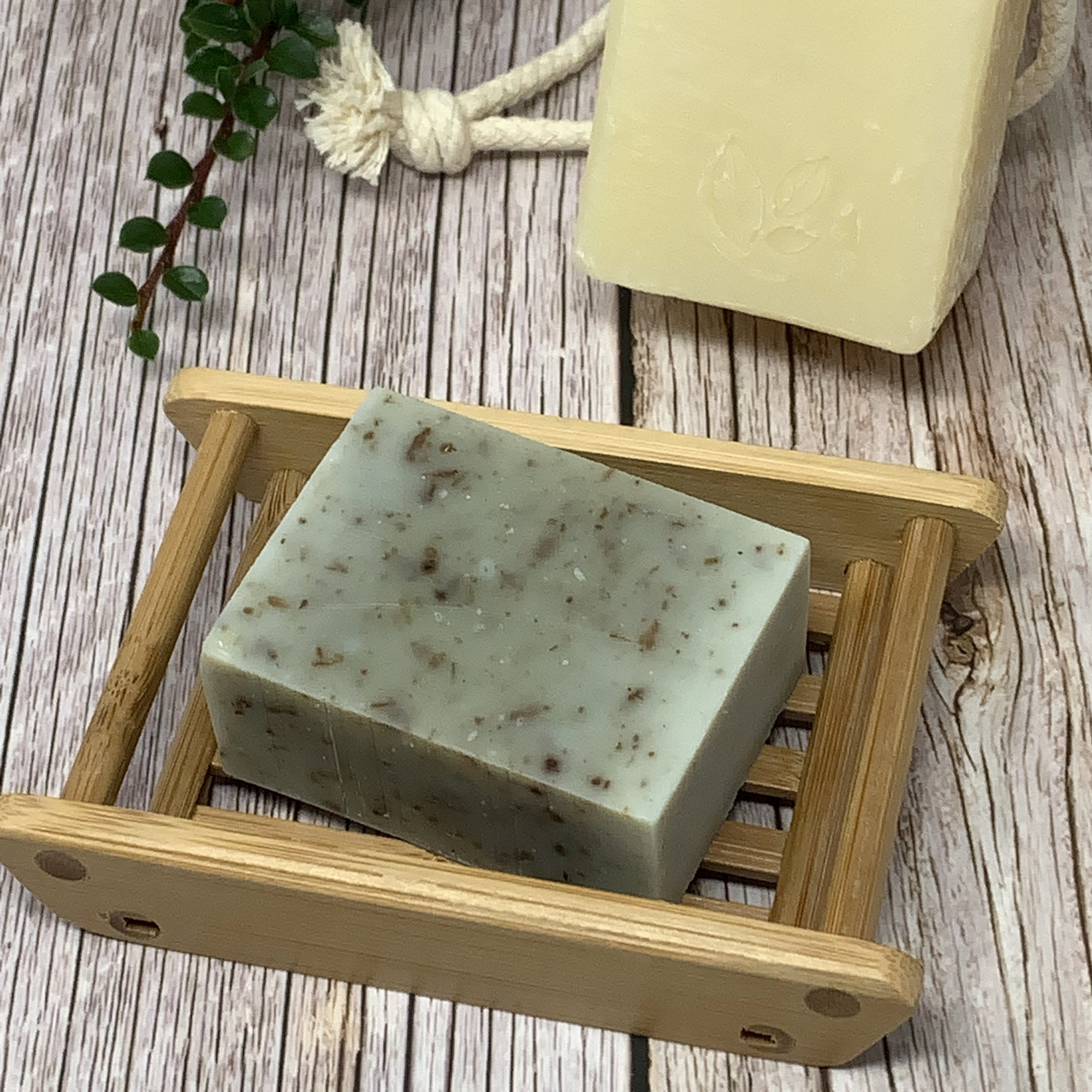 handmade bamboo soap container