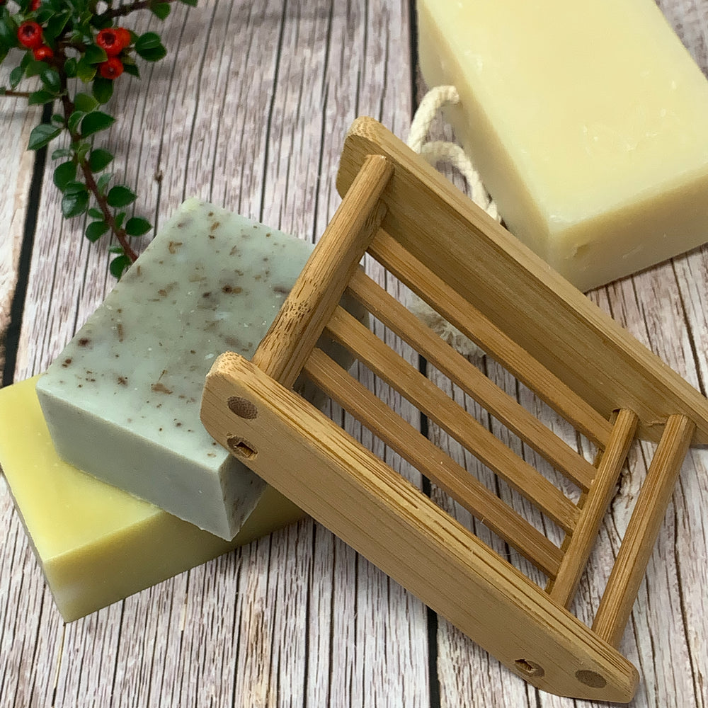 bamboo solid soap rack zero waste