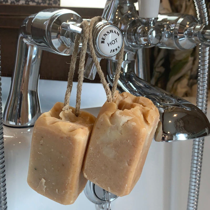 soap on a rope for men