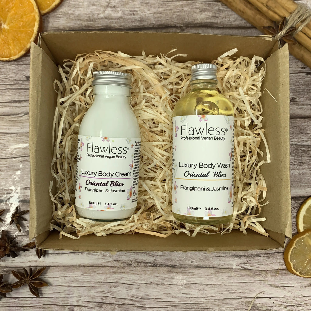 Body Care Gift Set, Natural Body Cream and Body Wash Set