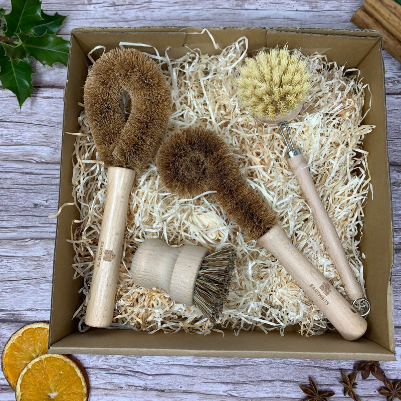 ecofriendly kitchen dish brush gift set