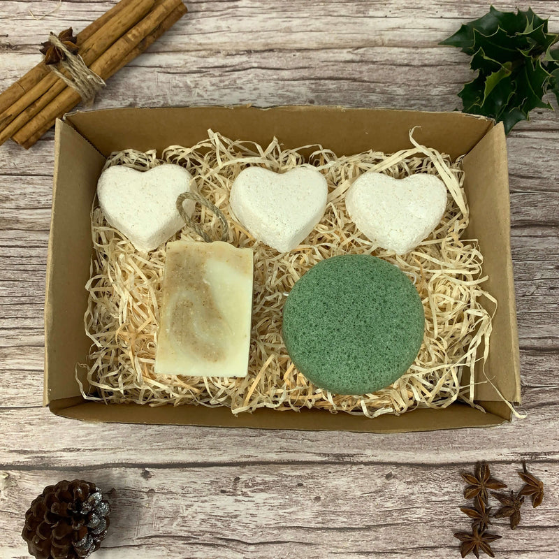 natural organic bath bomb set