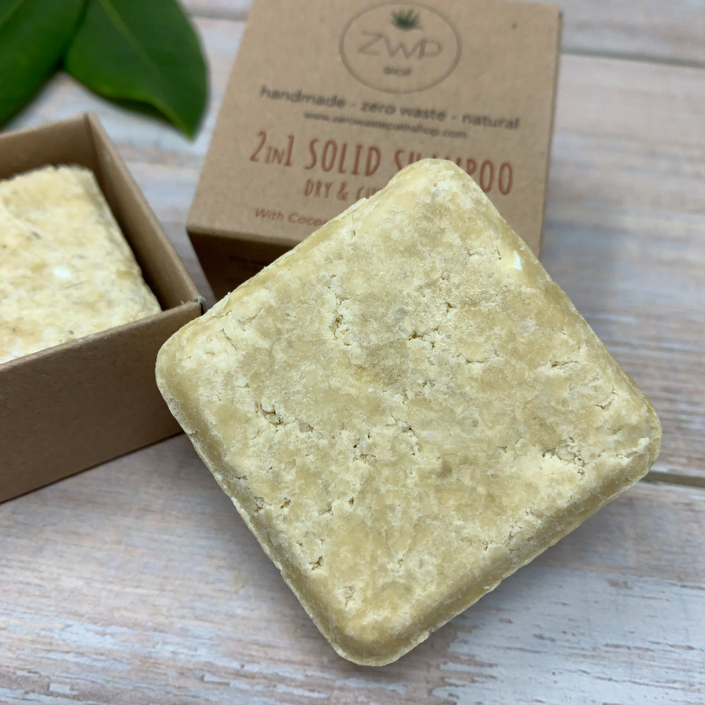 solid shampoo and conditioner by zero waste path in yellow natural colour