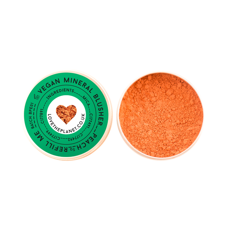 vegan peach blusher by love the planet