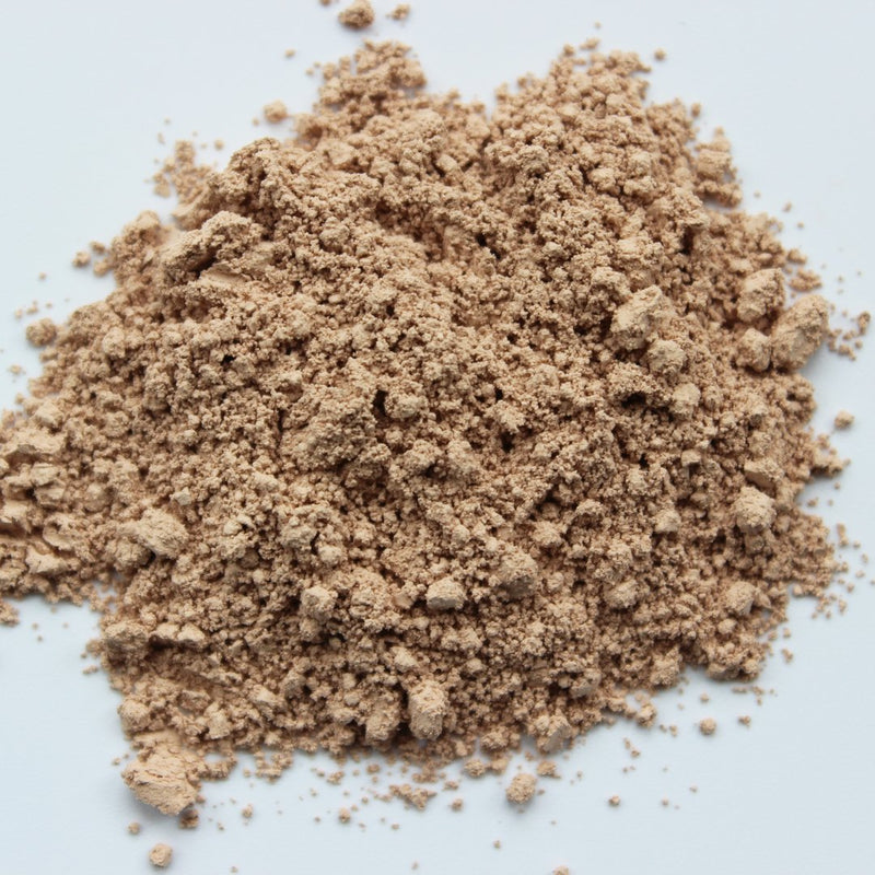 fair foundation powder without any plastic packaging on a white background
