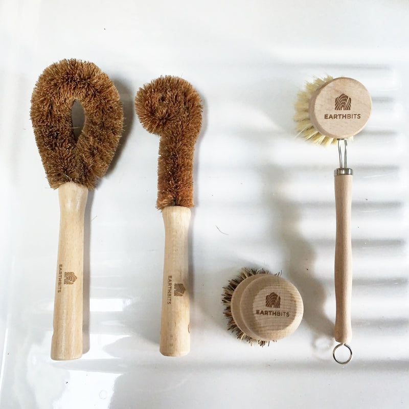 Eco Friendly Dish Brush Bundle - Made From Wood and Plant Fibres