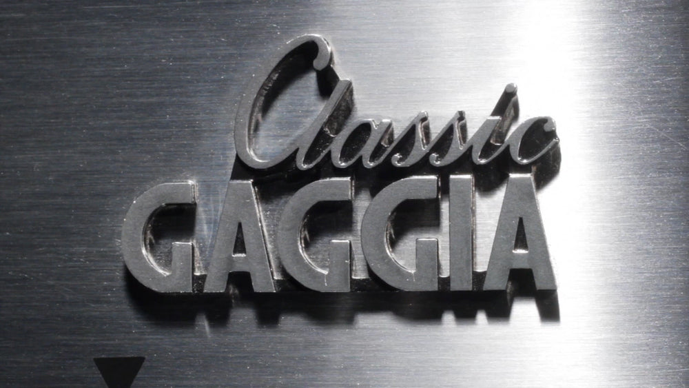 Gaggia Classic Brushed Stainless Steel Semi-Automatic Espresso Machine - Logo