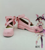 Valentines Pink Cute Lolita Nico Yazawa Cosplay Shoes Newest Japanese Anime Lovelive! Boots For Halloween Christmas