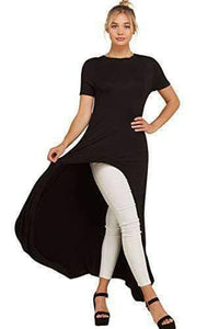 Curved Front Slit Fashion Top - WAS $37.99 - NOW $29.99